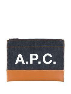 A.P.C. клатч с логотипом