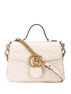 Gucci мини-сумка GG Marmont с верхней ручкой