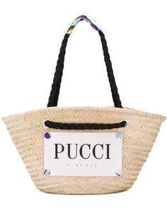 Emilio Pucci пляжная сумка с нашивкой-логотипом