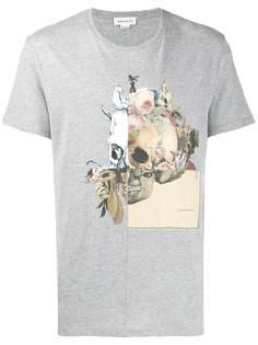 Alexander McQueen футболка с принтом черепа и логотипом