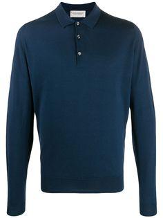 John Smedley рубашка-поло с длинными рукавами