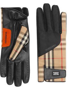Burberry перчатки в клетку Vintage Check