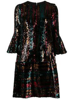 Talbot Runhof коктейльное платье с пайетками