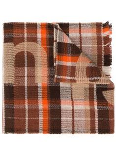 Acne Studios клетчатый шарф с логотипом