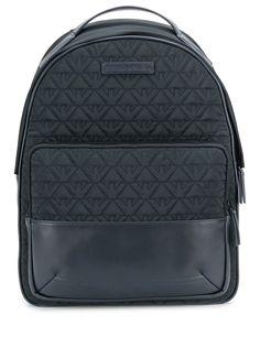 Emporio Armani рюкзак с вышитым логотипом