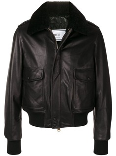 Ami Paris куртка-бомбер на молнии
