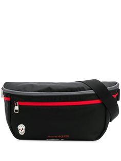 Alexander McQueen объемная поясная сумка с двойной молнией