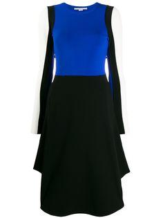 Stella McCartney платье в стиле колор-блок с длинными рукавами
