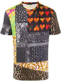 Versace футболка с контрастным принтом