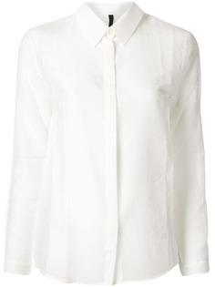 Sara Lanzi прозрачная рубашка кроя слим