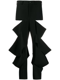 Comme Des Garçons ripped high-rise trousers
