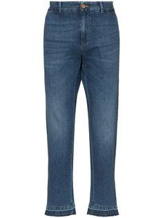 Gucci зауженные джинсы с вышитым логотипом