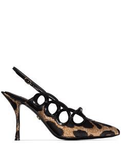 Dolce & Gabbana леопардовые туфли Lori 90