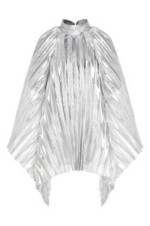Серебристое гофрированное платье 404 Not Found |