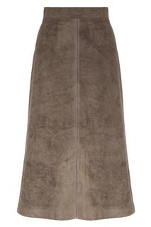 Юбка-миди коричневого цвета Erma