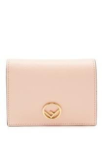 Складной розовый кошелек с монограммой Fendi