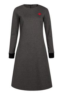 Серое платье с аппликацией Terekhov Girl