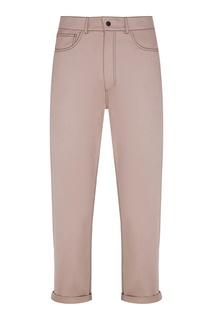 Бежевые брюки с контрастной строчкой Izeta