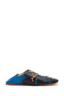 Синие кожаные слиперы с аппликацией Vita Kin