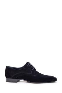 Черные замшевые туфли Artioli