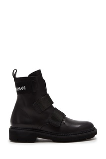 Черные кожаные ботинки Emporio Armani