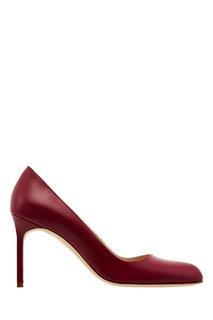 Красные кожаные туфли BBR Manolo Blahnik