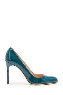 Сине-зеленые лакированные туфли BBR Manolo Blahnik