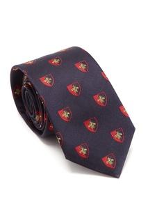 Темно-синий галстук с узором Gucci Man
