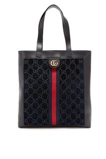 Черная сумка с узором Gucci Man