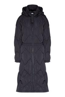 Стеганое пальто с капюшоном Emporio Armani