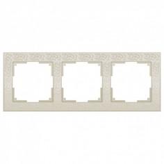 Рамка на 3 поста Flock WL05-Frame-03-ivory Werkel