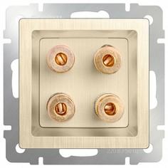Розетка акустические без рамки Шампань рифленый WL10-AUDIOx4 Werkel