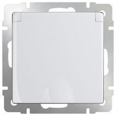 Розетка влагозащищенна с заземлением с крышкой со шторками, без рамки Белый WL01-SKGSC-01-IP44 Werkel