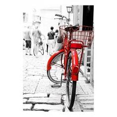Картина (40х60 см) Красный велосипед HE-101-641 Ekoramka