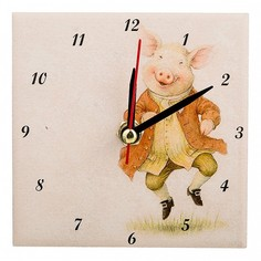 Настольные часы (10x10 см) Свинки 354-1636