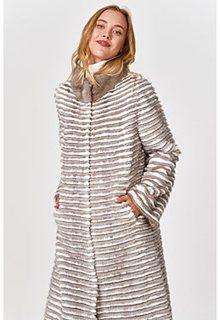 Длинная облегченная норковая шуба Virtuale Fur Collection
