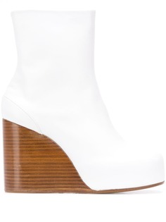 Maison Margiela square toe wedge boots