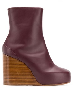 Maison Margiela square 100 wedge boots