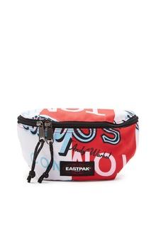 Красно-белая поясная сумка с логотипом Eastpak
