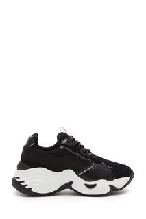 Черно-белые кроссовки с окантовкой Emporio Armani