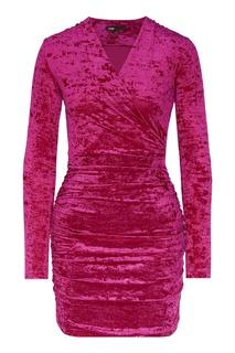 Драпированное платье розового цвета Maje