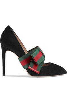 Gucci туфли-лодочки со съемным бантом Web
