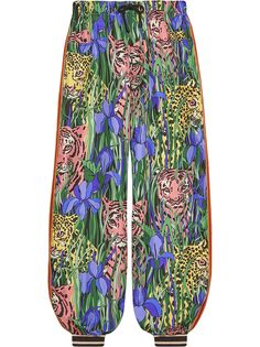Gucci брюки-шаровары с принтом