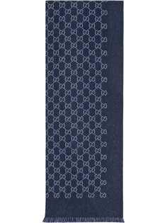 Gucci жаккардовый шарф с узором GG