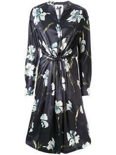Vince атласное платье Iris