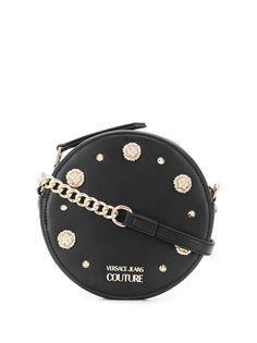 Versace Jeans Couture декорированная сумка через плечо