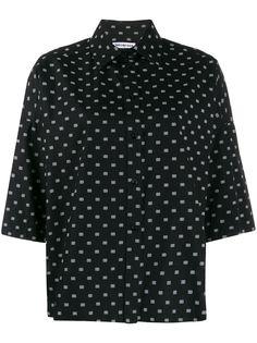 Balenciaga рубашка Vareuse с принтом