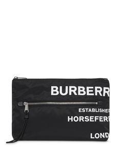 Burberry Horseferry Print Nylon Zip Pouch