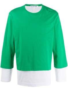 Comme Des Garçons Shirt многослойная футболка с длинными рукавами