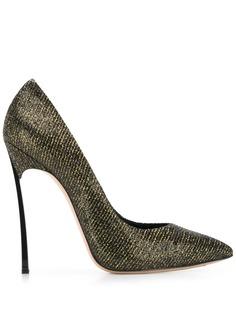 Casadei туфли на шпильке с эффектом металлик
